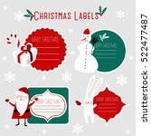 christmas labels | Shutterstock .eps vector #522477487