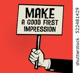 poster in hand  business... | Shutterstock .eps vector #522481429
