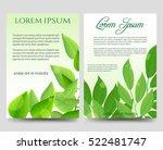 spring flyers template design... | Shutterstock .eps vector #522481747