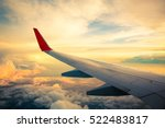 morning sunrise with wing of an ... | Shutterstock . vector #522483817