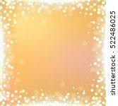 gradient golden square... | Shutterstock .eps vector #522486025