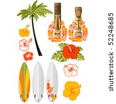 hawaiian rest attributes ... | Shutterstock .eps vector #52248685