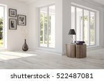 white room with furniture and... | Shutterstock . vector #522487081