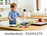 adorable child below the age of ... | Shutterstock . vector #522491275
