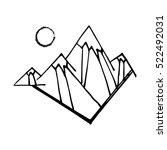 illustration of mountains  peak ... | Shutterstock .eps vector #522492031