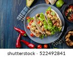 authentic mexican tacos with... | Shutterstock . vector #522492841