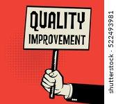 poster in hand  business... | Shutterstock .eps vector #522493981