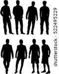 silhouette of a man. | Shutterstock .eps vector #522495229