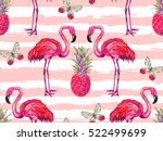 summer jungle pattern with... | Shutterstock .eps vector #522499699