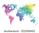 hello word cloud world map in... | Shutterstock .eps vector #522500401