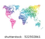 question words world map in... | Shutterstock .eps vector #522502861
