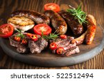close up photo of mixed grilled ... | Shutterstock . vector #522512494