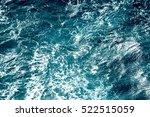 Atlantic Ocean With Blue Water...