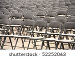 black plastic chairs set for an ... | Shutterstock . vector #52252063