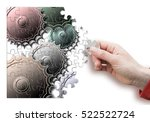 female hand disassemble and... | Shutterstock . vector #522522724
