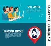 call center customer service | Shutterstock .eps vector #522524464