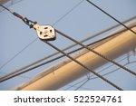 detail of deck  pulley block...   Shutterstock . vector #522524761