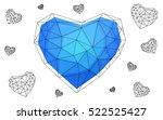 blue heart isolated on white... | Shutterstock .eps vector #522525427