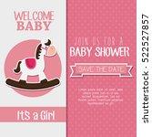 baby shower invitation card | Shutterstock .eps vector #522527857