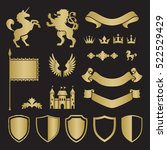 heraldic silhouettes for signs... | Shutterstock .eps vector #522529429