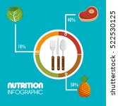 nutrition food infographic icons | Shutterstock .eps vector #522530125