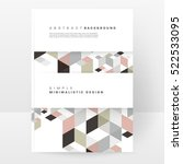 geometric background template... | Shutterstock .eps vector #522533095