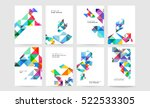 geometric background template... | Shutterstock .eps vector #522533305