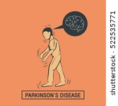 parkinson's disease vector logo ... | Shutterstock .eps vector #522535771
