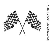 two crossed checkered flags ...   Shutterstock .eps vector #522537817