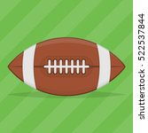 american football ball isolated ... | Shutterstock .eps vector #522537844