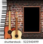 guitars and keyboard against... | Shutterstock . vector #522540499