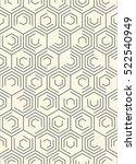 seamless hexagon pattern.... | Shutterstock .eps vector #522540949