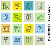 set of 16 project management...   Shutterstock .eps vector #522542017