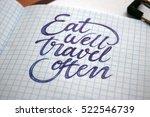 eat well travel often...   Shutterstock . vector #522546739