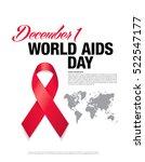 december 1. world aids day...   Shutterstock .eps vector #522547177