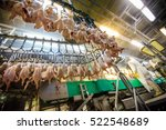 chicken meat processing factory | Shutterstock . vector #522548689
