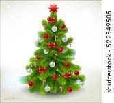 christmas fir tree. vector eps... | Shutterstock .eps vector #522549505