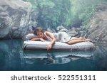 a hidden place. sleeping woman... | Shutterstock . vector #522551311