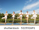 yoga  fitness  sport  and... | Shutterstock . vector #522552691