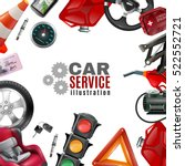 car service template with auto...   Shutterstock .eps vector #522552721