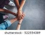 cropped image of young people's ... | Shutterstock . vector #522554389
