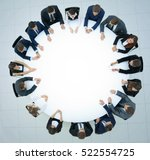 round table discussion at...   Shutterstock . vector #522554725