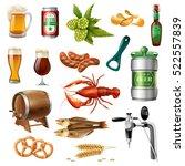 oktoberfest beer snacks and... | Shutterstock .eps vector #522557839