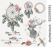beautiful bo ho elements... | Shutterstock .eps vector #522559351