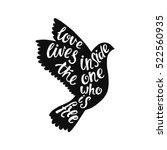 love lives inside the one who... | Shutterstock .eps vector #522560935