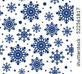 christmas pattern. holiday... | Shutterstock .eps vector #522561817