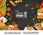 fastfood restaurant colorful... | Shutterstock .eps vector #522564559