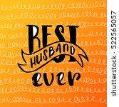 hand drawn calligraphy... | Shutterstock .eps vector #522565057
