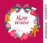 winter frame | Shutterstock .eps vector #522565375
