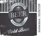 beer label badge   october